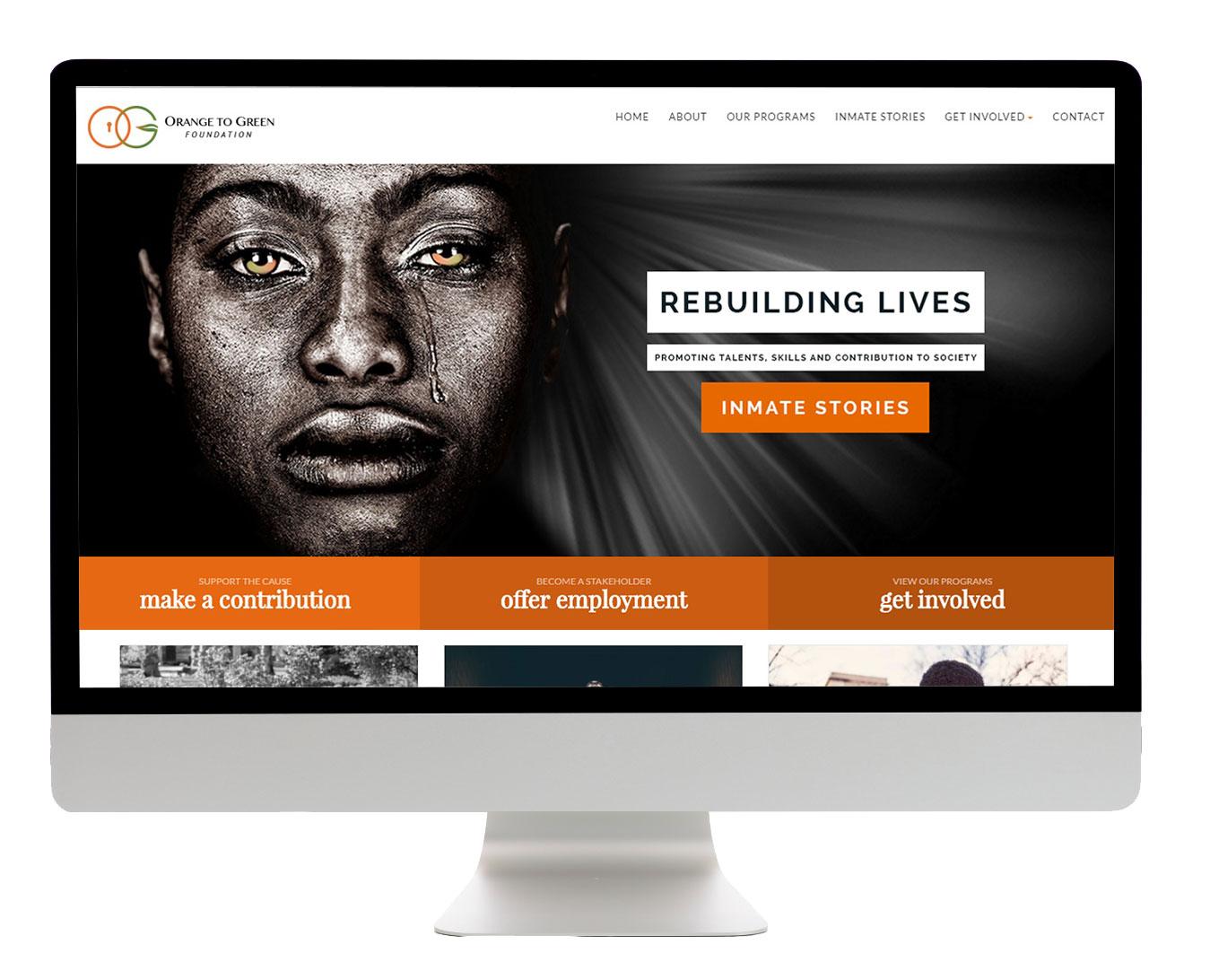 Web Design - Orange To Green - Addon Digital
